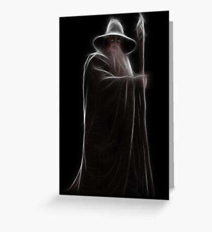 Neon Wizard Greeting Card
