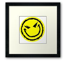 Big funny face.YELLOW Framed Print