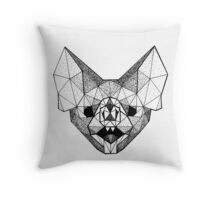 Geometry Bat Throw Pillow