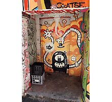 Milk Crates in the Doorway. Croft Alley. Photographic Print