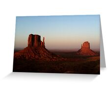 Monument Valley vastness Greeting Card