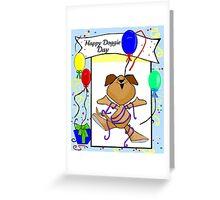 Cartoon Dog Birthday Greeting Greeting Card
