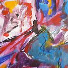 Joie de Virve Abstract by Anthea  Slade