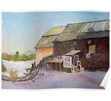 Quebec Farm in Winter Poster
