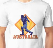 Australia Cricket player batsman batting Unisex T-Shirt