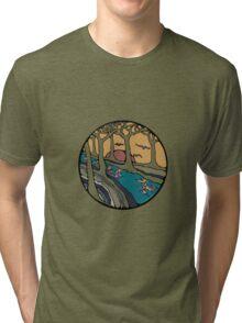 Nature Inspired Circular Design Tri-blend T-Shirt
