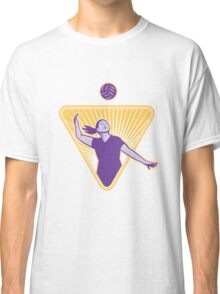 Volleyball Player Serve Ball Side Indoor Classic T-Shirt
