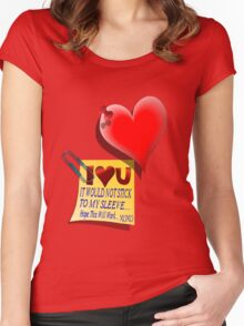 Valentine Heart and Love Note Women's Fitted Scoop T-Shirt
