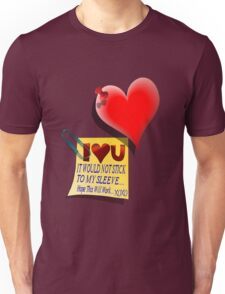 Valentine Heart and Love Note Unisex T-Shirt