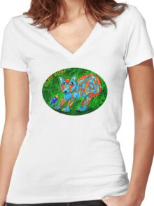 Cat Fish Tee Women's Fitted V-Neck T-Shirt