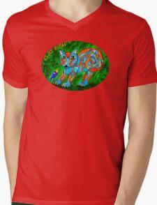 Cat Fish Tee Mens V-Neck T-Shirt