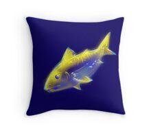 Glow fish Throw Pillow