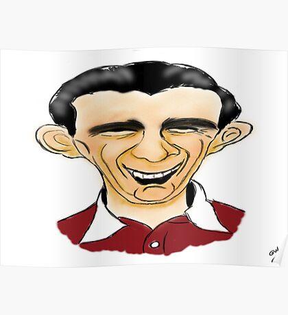 Jimmy Wardhaugh Cartoon Caricature Poster