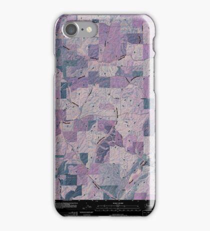 USGS Topo Map Washington State WA Plaza 20110401 TM Inverted iPhone Case/Skin