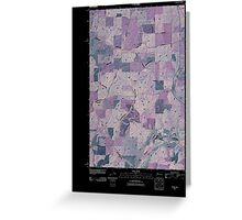USGS Topo Map Washington State WA Plaza 20110401 TM Inverted Greeting Card