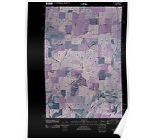 USGS Topo Map Washington State WA Plaza 20110401 TM Inverted Poster