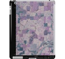 USGS Topo Map Washington State WA Plaza 20110401 TM Inverted iPad Case/Skin