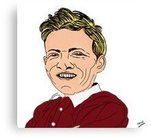 Willie Bauld Cartoon Caricature Canvas Print