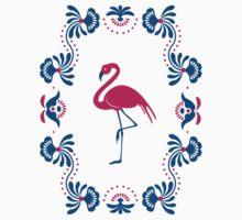 Folk Flamingo Kids Tee