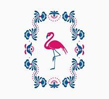 Folk Flamingo Womens Fitted T-Shirt