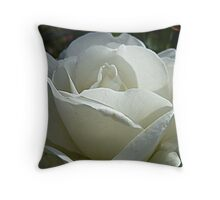 Iceberg Rose amid the buds Throw Pillow