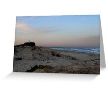 Afternoon beach sunset, Newcastle, Australia Greeting Card