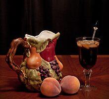 Pitcher of Peach Tea  by Sherry Hallemeier