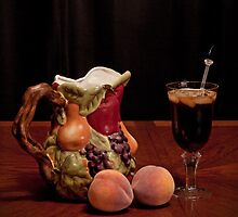 Pitcher of Peach Tea  by Sherry Hallemeier