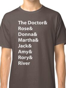 The Doctor and His Many Companions Classic T-Shirt