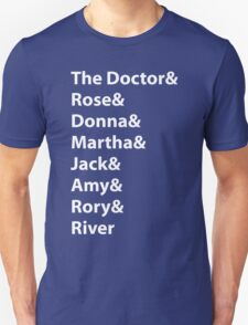 The Doctor and His Many Companions Unisex T-Shirt