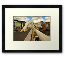 The 'Squiggly' bridge in Glasgow Framed Print