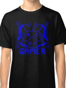 Blue Circuit Gamer Classic T-Shirt