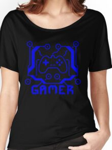 Blue Circuit Gamer Women's Relaxed Fit T-Shirt