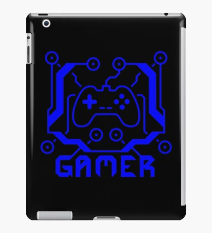 Blue Circuit Gamer iPad Case/Skin
