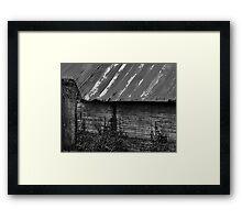 Tin Roof Barn Framed Print