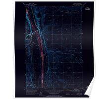 USGS Topo Map Washington State WA Vantage 244459 1954 24000 Inverted Poster