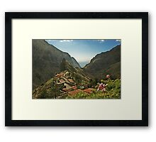 Masca - A Village in theMountains Framed Print