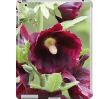 Red Hollyhock Flowers iPad Case/Skin