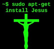 Linux sudo apt-get install Jesus by boscorat