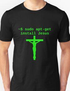 Linux sudo apt-get install Jesus T-Shirt