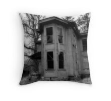 Ghostly Abode Throw Pillow