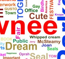 Parks and Recreation - Leslie Knope's Word Collage Sticker