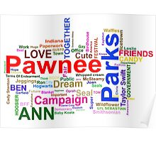 Parks and Recreation - Leslie Knope's Word Collage Poster