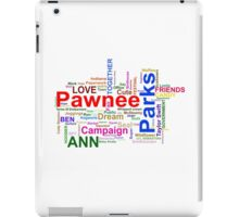 Parks and Recreation - Leslie Knope's Word Collage iPad Case/Skin