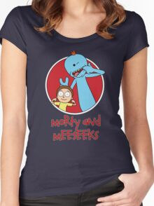 Morty and Meeseeks Women's Fitted Scoop T-Shirt