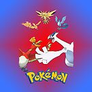 Pokemon Legendary Birds iPhone / iPod Cover by Aaron Campbell