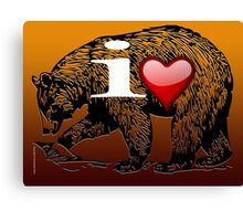 I LOVE BEAR Canvas Print