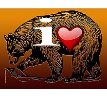 I LOVE BEAR Photographic Print