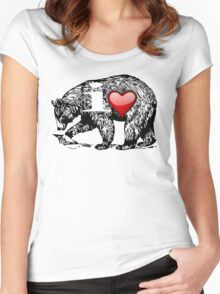 I LOVE BEAR Women's Fitted Scoop T-Shirt