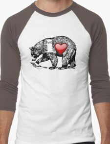 I LOVE BEAR Men's Baseball ¾ T-Shirt
